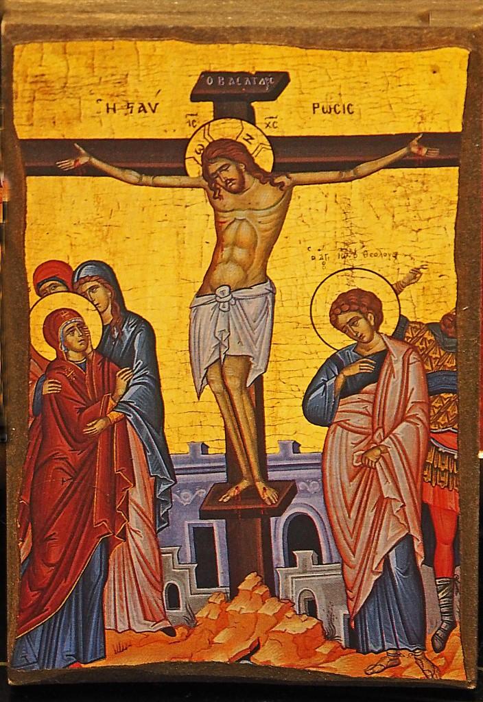 Kreuzigungsikone. Christus am Kreuz